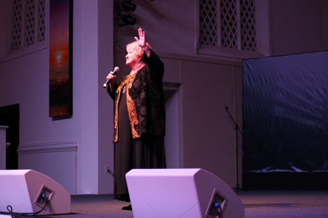 Edwene Gaines speaking at Bodhi Spiritual Center in Chicago, IL.