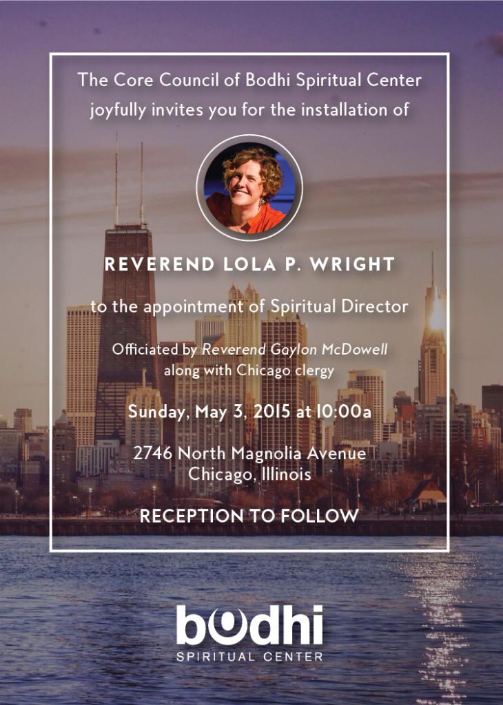 Rev. Lola Wright's Installation at Bodhi Spiritual Center