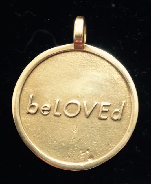 beLOVEd pendant yellow bronze