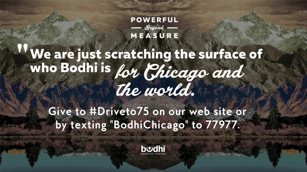 drive to 75 - reverend lola wright quote - bodhi spiritual center - chicago - 08.20.15 - 1800