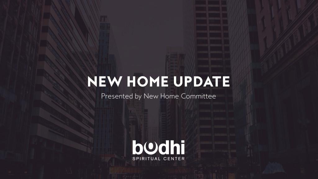 new home update presentation - slide 1