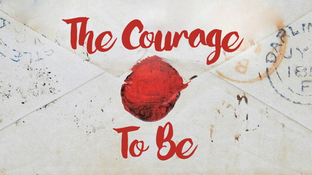 the courage to be - may theme - wax stamp envelope - bodhi spiritual center - 05.05.16 - 1800