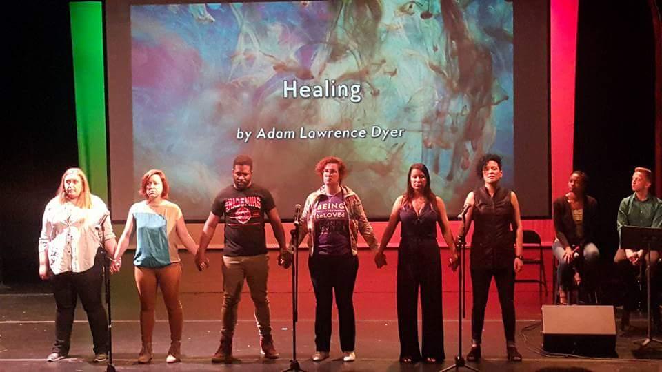 healing poem performance at bodhi spiritual center - twitter pic