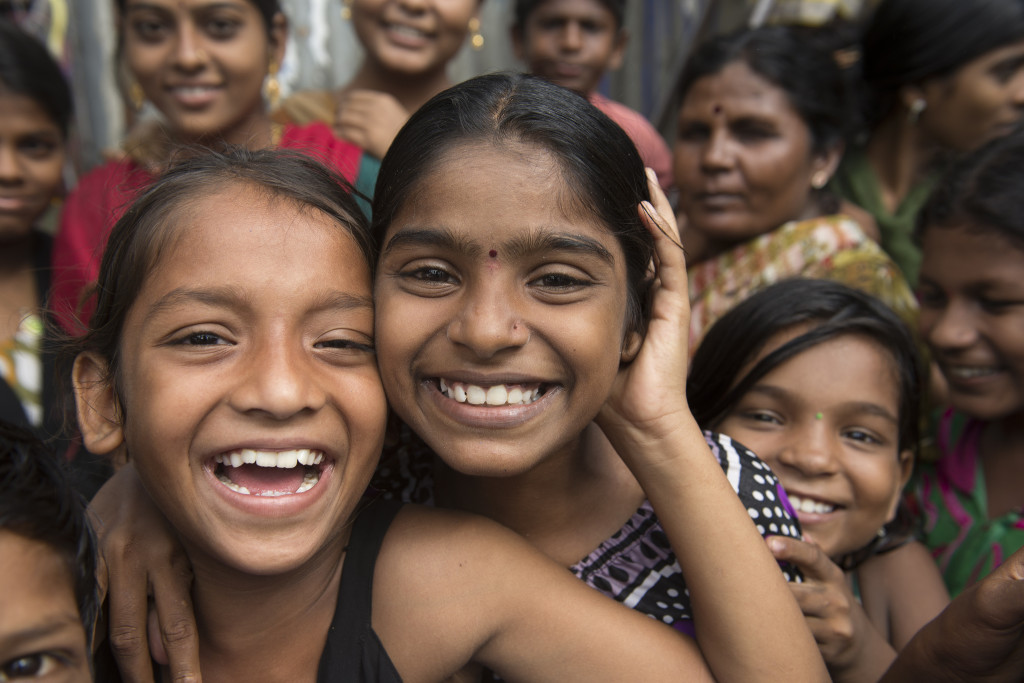 mumbai india children smiling
