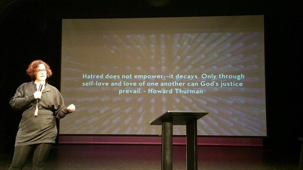 reverend lola wright speaking at bodhi spiritual center vittum theater chicago - 01.15.17
