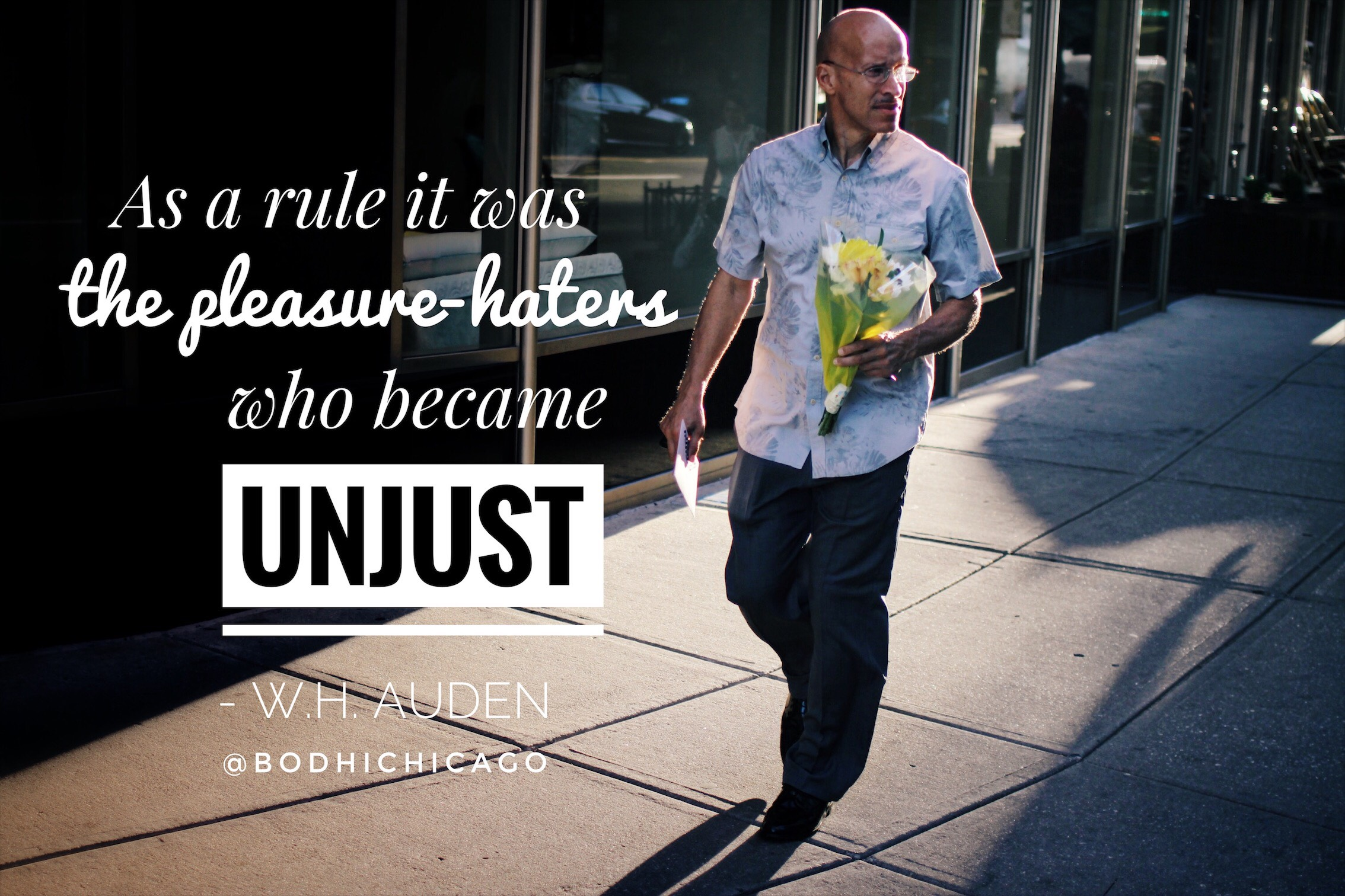 wh auden quote pleasure haters unjust - bodhi spiritual center - wednesday wisdom - 02.01.17